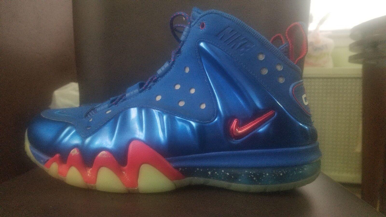 Nike Barkley Posite Max Sixers 76ers Energy Fire 555097 300 Size us 9.5