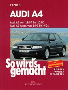 Reparaturanleitung Audi A4 B5 Avant quattro 11//1994-09//2001 Buch NEU!