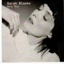 (EL179) Sarah Blasko, Bury This - 2013 DJ CD