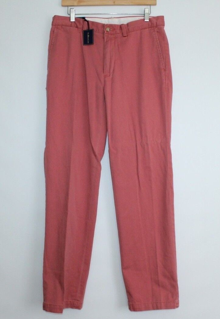 Men's NWT Polo Ralph Lauren classic fit pants in vintage red-33x32