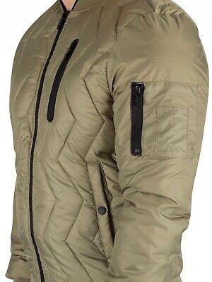 XXXXL Superdry Men/'s Zig Zag Quilt Bomber Jacket Washed Khaki Sizes M