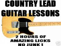 Country Lead Guitar 2 Hour Lesson Dvd Chicken Pickin', Double Stops, Steel Bends