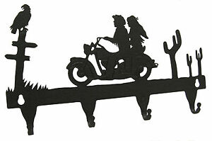 Motorcycle-Rider-Key-Hook-Holder-Man-Woman-Open-Wheel