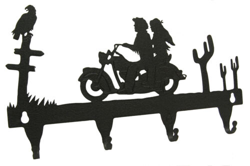 Motorcycle Rider Key Hook Holder Man Woman Open Wheel