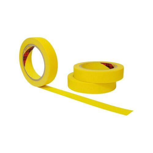 JMI Yellow Painters Tape for Car Paint 3 Roll Multi Size Automotive Masking Tape