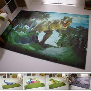 Détails sur Enfants Tapis Dinosaure chambre beige bleu vert gris rond  Pangaea collection- afficher le titre d\'origine