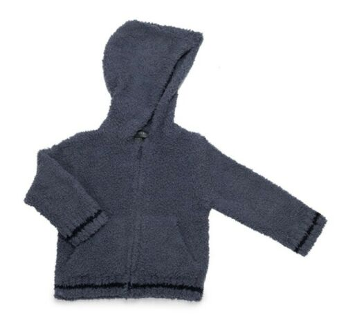 Barefoot Dreams 1043 Kids Zip up Hoodie Cozy Chic Blue Pink