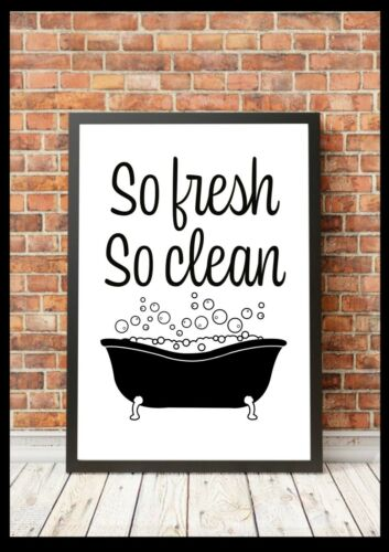 Bathroom Poster Print Minimalist Wall Funny Art Quality Toilet Home Quote