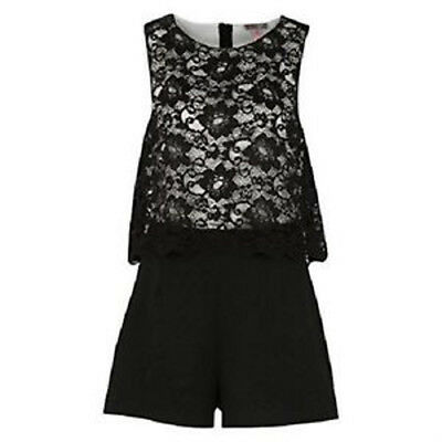 cfb7b3a9eb Lipsy Lace Top Playsuit Size 10 Black White Monochrome Jumpsuit Party Club  Sexy