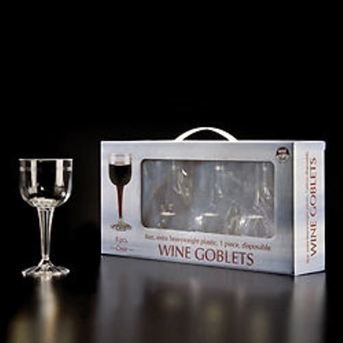 8 oz (environ 226.79 g) 1-PC tige cannelée Vin Gobelet verres 96 pieces EMI-Yoshi   rewg 18R Barware