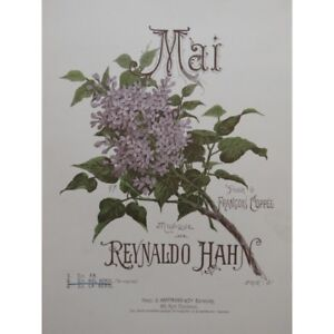 HAHN-Reynaldo-Mai-Chant-Piano-1893-partitura-sheet-music-score