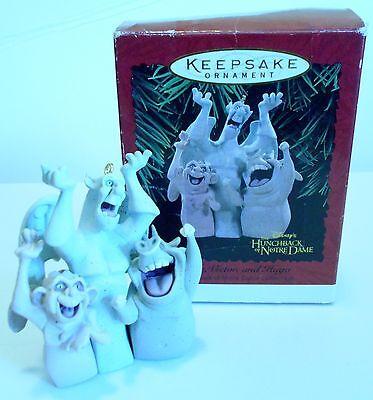 """1996 Hallmark Keepsake Ornament """"Laverne, Victor and Hugo"""" Hunchback Notre Dame"""