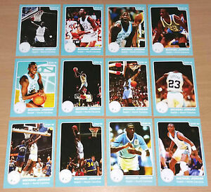 Michael-Jordan-1985-Star-Rookie-North-Carolina-Complete-Basketball-12-Card-set