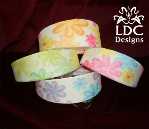 4 Color Choice~ White Daisy Flower Bold Floral Fabric Rigid Wide Hair Headband