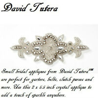 David Tutera Bridal Appliques Crystal Applique W/ Crystals & Beads