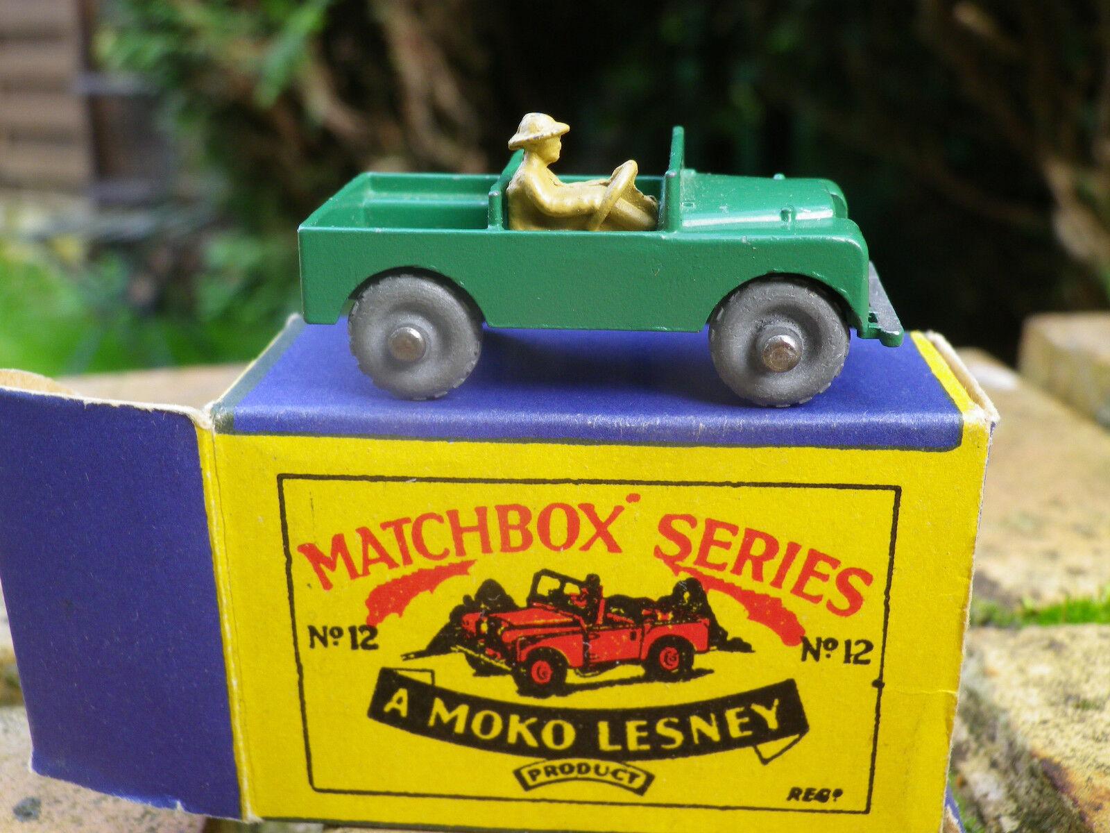 MATCHBOX LESNEY MOKO 12 LAND ROVER axe de roue pincé neuf boite d'origine neuve