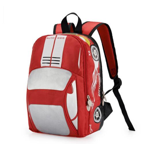 13/'/' Kindergarten Kids 3D Car School Book Bag Shoulder Backpack Rucksack HOT