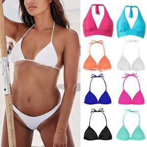 Brazilian Women Triangle Bikini Top Push Up Padded Bra Bandage Beach Swimwear