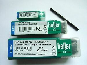 10-X-Quality-heller-German-HSS-R-metal-drill-bits-various-sizes-professional