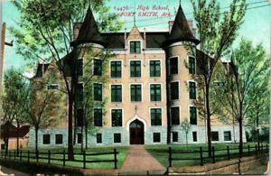 Antique-Postcard-FORT-SMITH-Arkansas-034-HIGH-SCHOOL-034