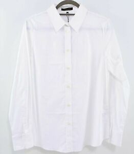 JAEGER-Women-039-s-Smart-Stretch-Cotton-Shirt-White-size-UK-12