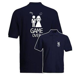 90ee998c9a Game Over Polo Shirt, Stag Do, Hen Do, Bachelor Party Gift Polo Top ...