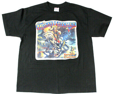 Southern Rock Music Molly Hatchet Devils Canyon Graphic T Shirt