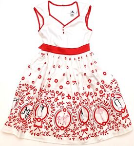 New-Disney-Parks-The-Dress-Shop-White-Red-Mary-Poppins-Penguins-Youth-Dress-S-XL