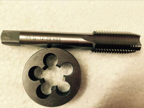 Lots 1pc HSS Machine 3//4-12 UN Plug Tap and 1pc 3//4-12 UN Die Threading Tool