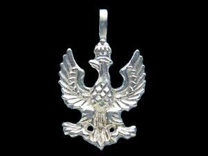 Sterling silver polish eagle pendant 925 charmmakers ebay image is loading sterling silver polish eagle pendant 925 charmmakers mozeypictures Images