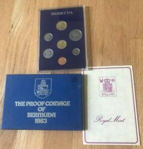 1983 Bermuda Proof Coin Set - Original Packaging and COA