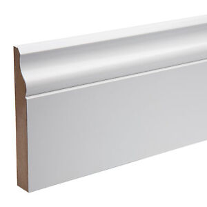 Pre-Finished-Ogee-Skirting-Boards-KOTA-MDF-119mm-x18mm-x-4-4-mtr-Free-P-amp-P