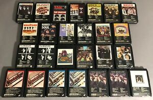 GREAT-LOT-OF-26-BEATLES-8-TRACK-TAPES-COMPLETE-USA-CATALOG-REFURBISHED-NEW-PADS