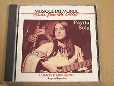 Pavita Sola Chants D'argentine Buda Musique
