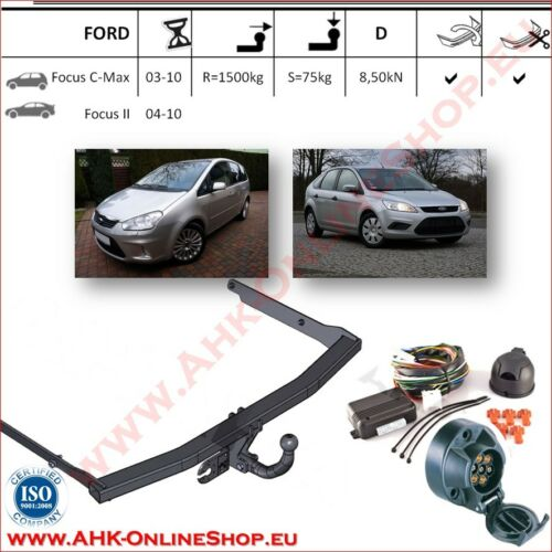 elettrico 7-poli Focus II 2003-2010 Gancio traino Ford Focus C-Max