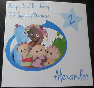 Into the night garden personalised A5 birthday card son daughter niece name age