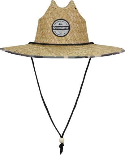 Camo Quiksilver Mens Outsider Wide Brim Straw Sun Hat