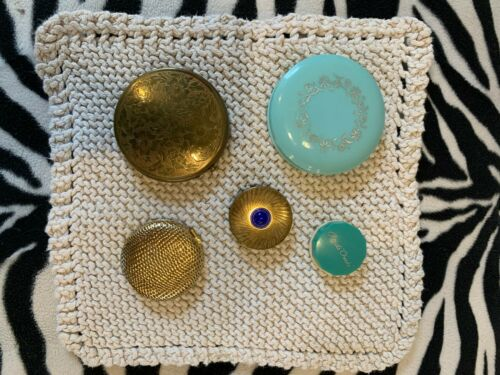 Vintage 5 piece lot of Make-up Compacts