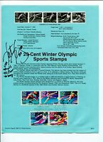 Katie King-Crowley Olympic Hockey Gold Medal  Signed Autograph FDC Stamp Sheet