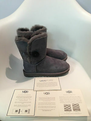 UGG Australia Bailey Button Grey Boot womens size 5-11/36-42 NEW!!!