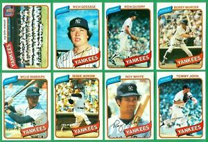 1980-TOPPS-NEW-YORK-YANKEES-TEAM-SET-NM-AL-EAST-CHAMPS-REGGIE-JOHN-RANDOLPH