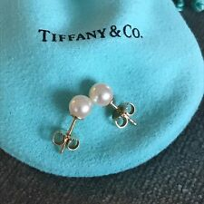 Tiffany & Co. Pearl and 18K Gold Stud Earrings