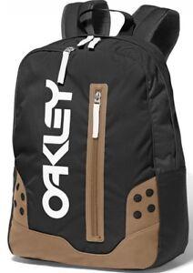 2c5ef6e924 NEW OAKLEY B1B PACK Black/White SCHOOL Backpack LAPTOP SLEEVE Book ...