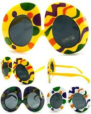 2 pair COLORED EGGS NOVELTY PARTY GLASSES sunglasses #282 men ladies NEW unusual