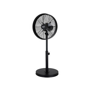 VENTILATORE A PIANTANA NERO IN ALLUMINIO 60W POTENTE STABILE COLONNA