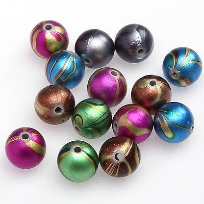 20pcs  Colourful Findings Enamel Charm Spacer Beads 12mm For Necklace Making