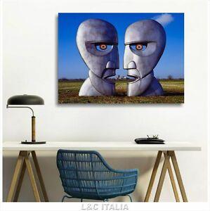Detalles De Pink Floyd The Division Bell Quadro Intelaiato 70x50 Stampa Tela Album Teste
