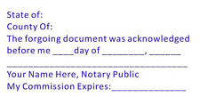 Notary Ack Notary Custom Self Inking Trodat 4926 Acknowledgment Stamp
