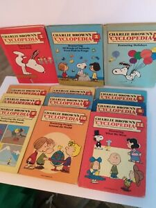 Charlie-Brown-039-s-039-Cyclopedia-1-12-1980-Set-Children-Encyclopedia-Lot-Hard-Cover