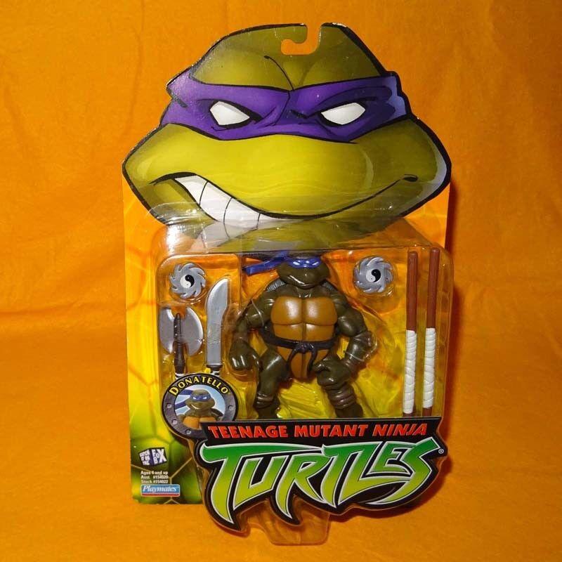 2002 teenage mutant ninja turtles (tmnt) donatello actionfigur moc gekrempelt